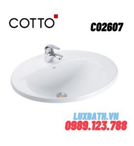 Chậu rửa mặt COTTO C02607 dương vành