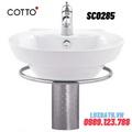 Chậu rửa Lavabo COTTO SC0285 chân ngắn