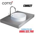 Chậu rửa mặt COTTO C00027 dương bàn
