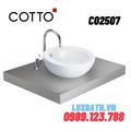 Chậu rửa mặt COTTO C02507 đặt bàn