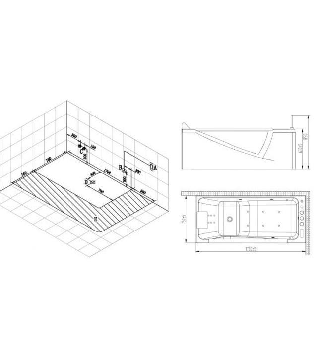 Bồn tắm MASSAGE NOFER NG–65108 (AL/BL)