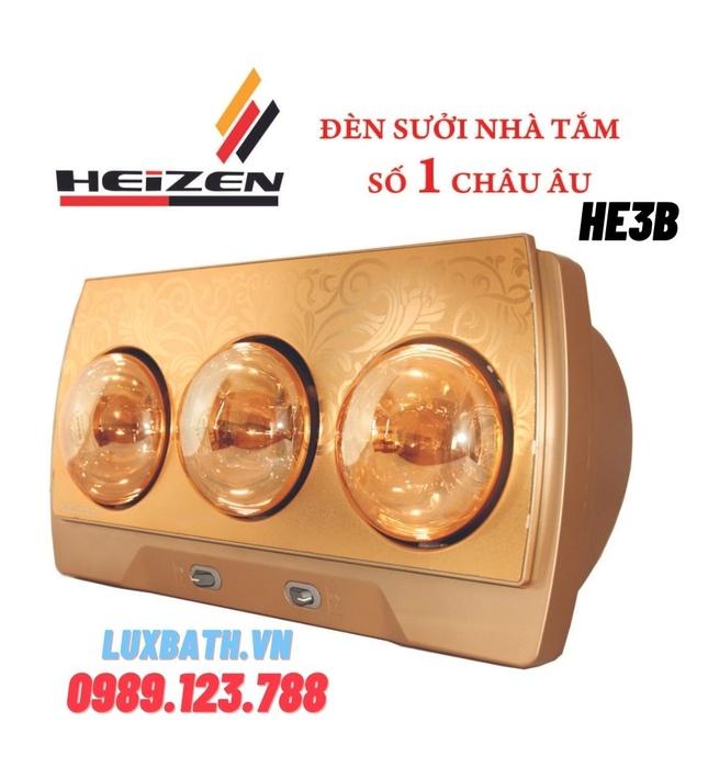 Đèn sưởi 3 bóng treo tường Heizen-HE3B