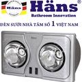 Đèn sưởi 2 bóng treo tường Hans – H2B