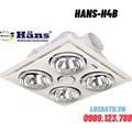 Đèn sưởi 4 bóng âm trần Hans-H4B