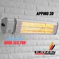 Đèn sưởi không chói mắt điều khiển bằng Smart PhoneHeizen Appino 20
