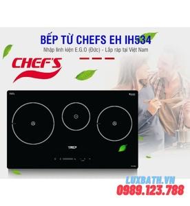 Bếp điện từ 3 vùng nấu Chefs EH-IH534