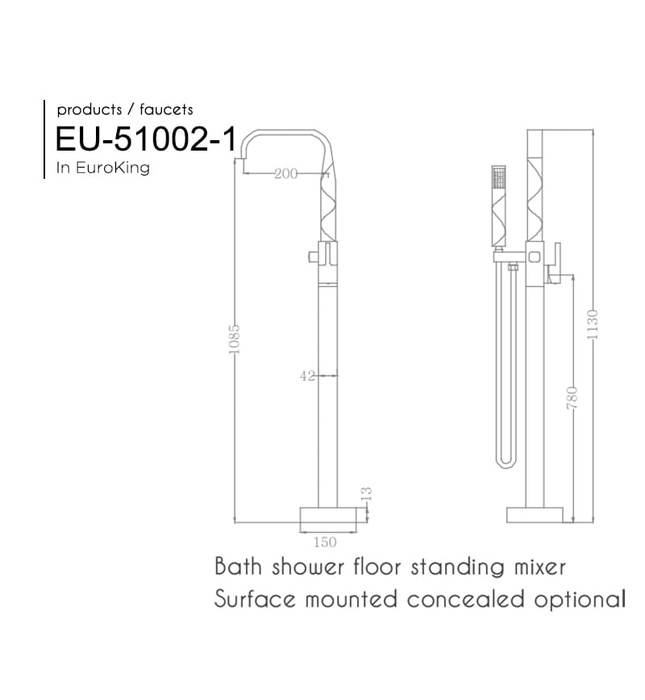 Sen tắm gắn bồn Euroking EU-51002-1