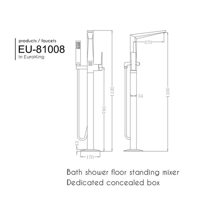 Sen tắm gắn bồn Euroking EU-81008