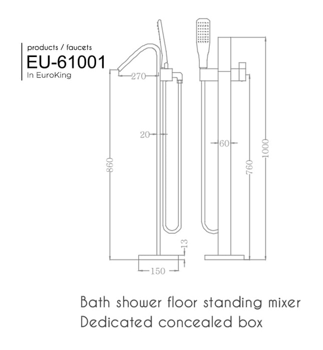 Sen tắm gắn bồn Euroking EU-61010