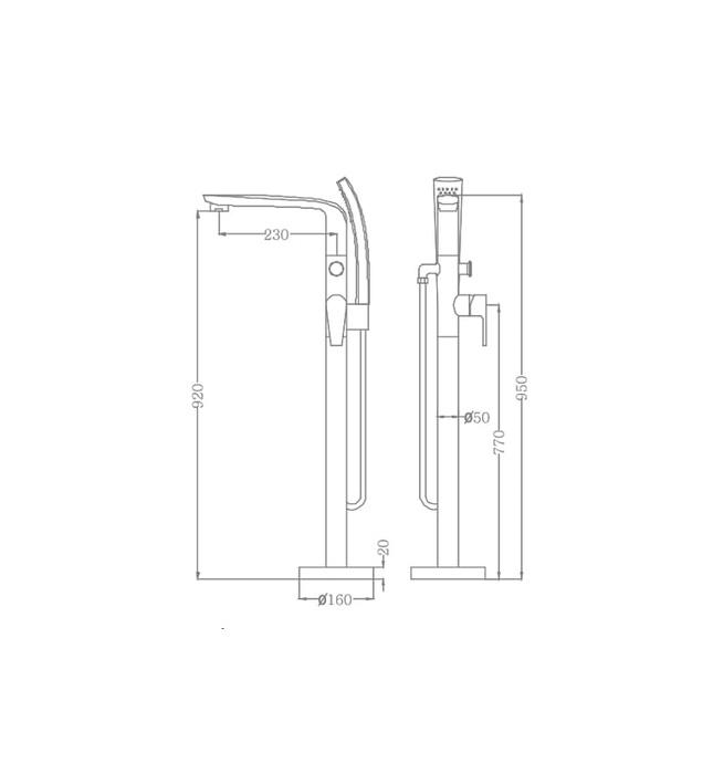Sen tắm gắn bồn Nofer EU-51026-2