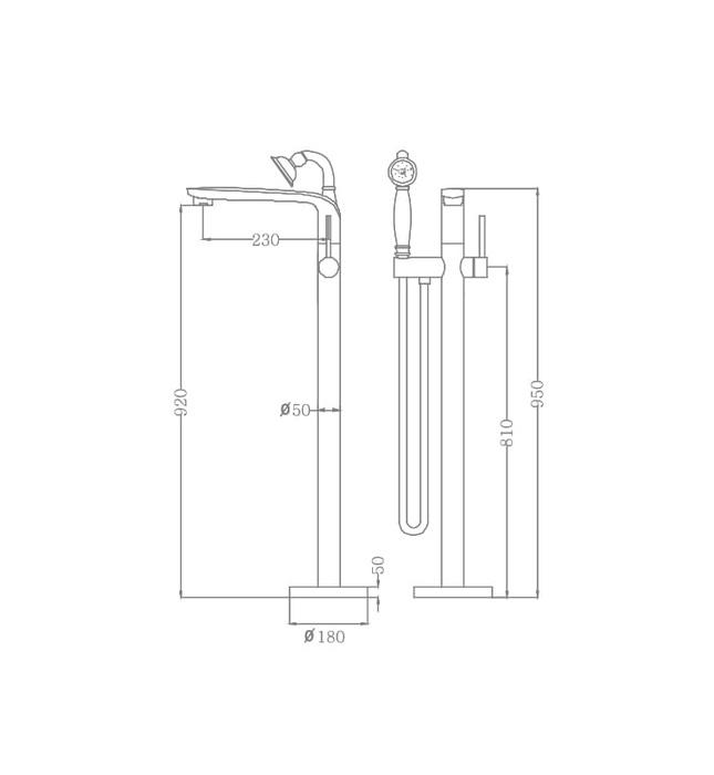 Sen tắm gắn bồn Nofer EU-51026