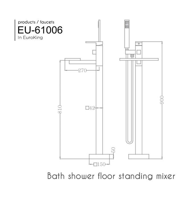 Sen tắm gắn bồn Nofer NO-61006