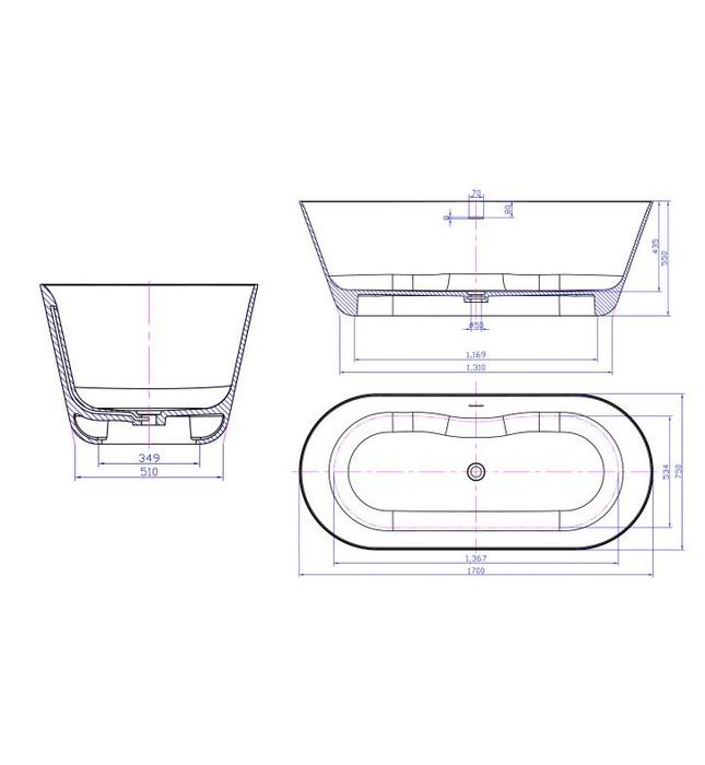Bồn tắm Nofer NO-65160