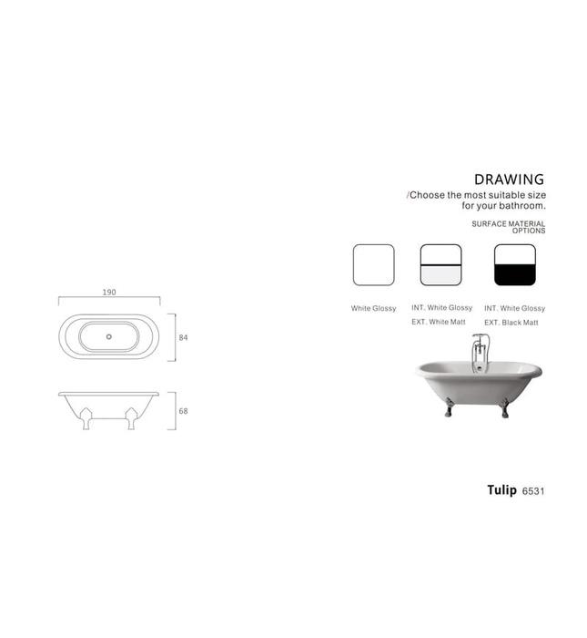 Bồn tắm TULIP Nofer NO-6531
