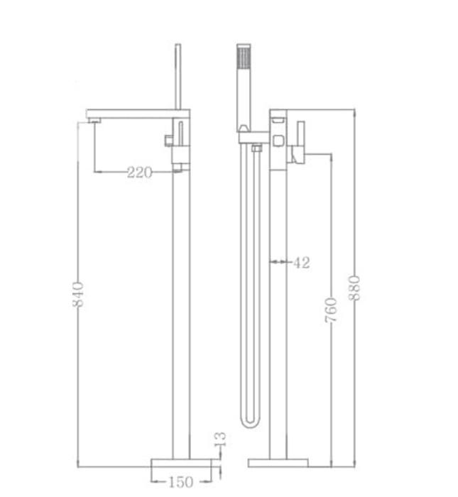 Sen tắm gắn bồn Nofer NO-51001