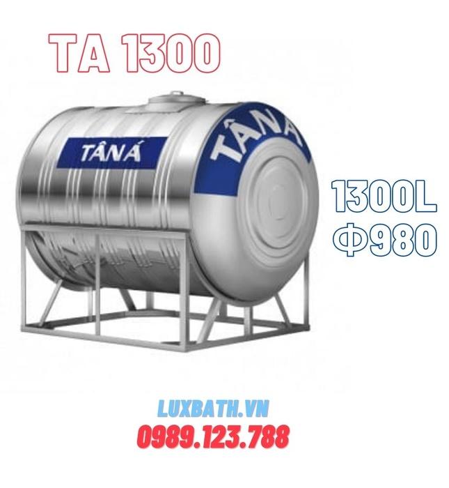Bồn nước Tân Á 1300L ngang inox TA 1300 D