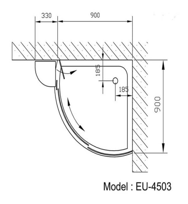 Phòng tắm vách kính Euroking EU-4503