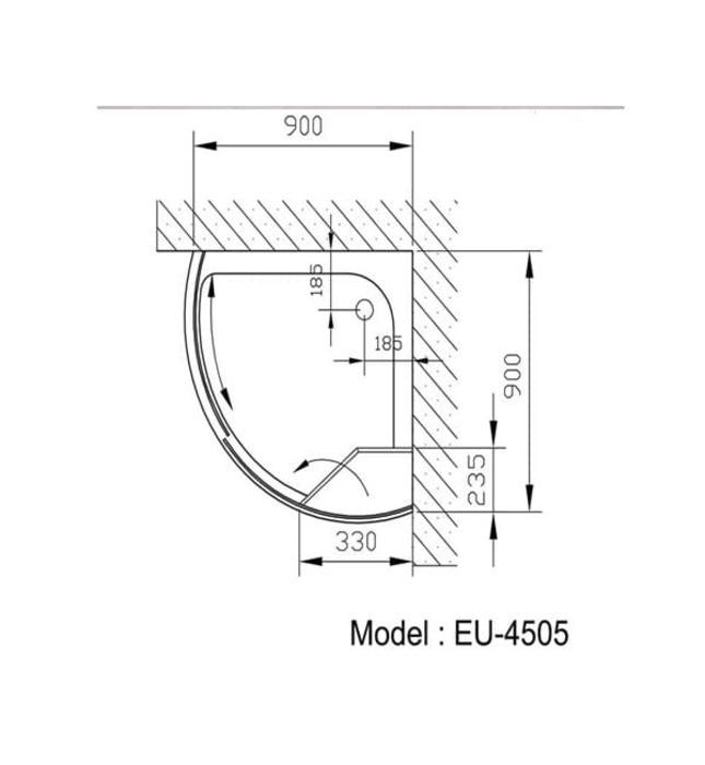 Phòng tắm vách kính Euroking EU-4505