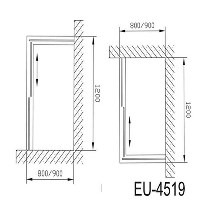 Phòng tắm vách kính Euroking EU-4519