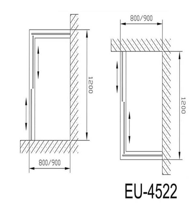 Phòng tắm vách kính Euroking EU-4522