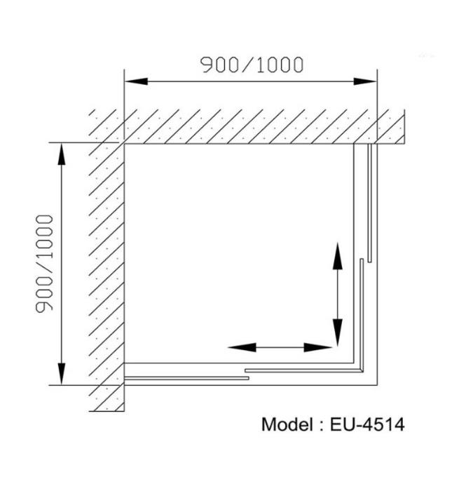 Phòng tắm vách kính Euroking EU-4514