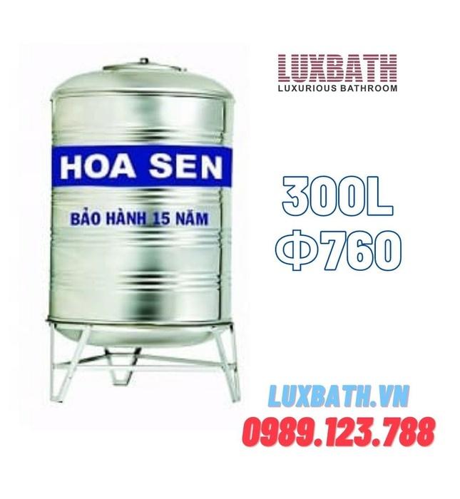 Bồn Nước Inox SUS304 Hoa Sen 300L Đứng HS 300D