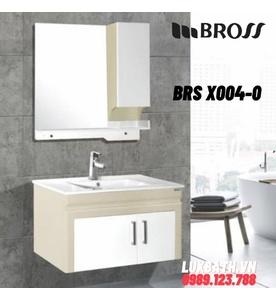 Bộ tủ chậu nhựa 2 ngăn Bross BRS X004-0