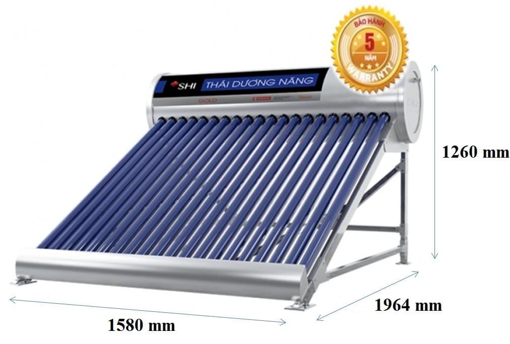 Máy Nước Nóng Năng Lượng Mặt Trời Sơn Hà 300L-58 Gold