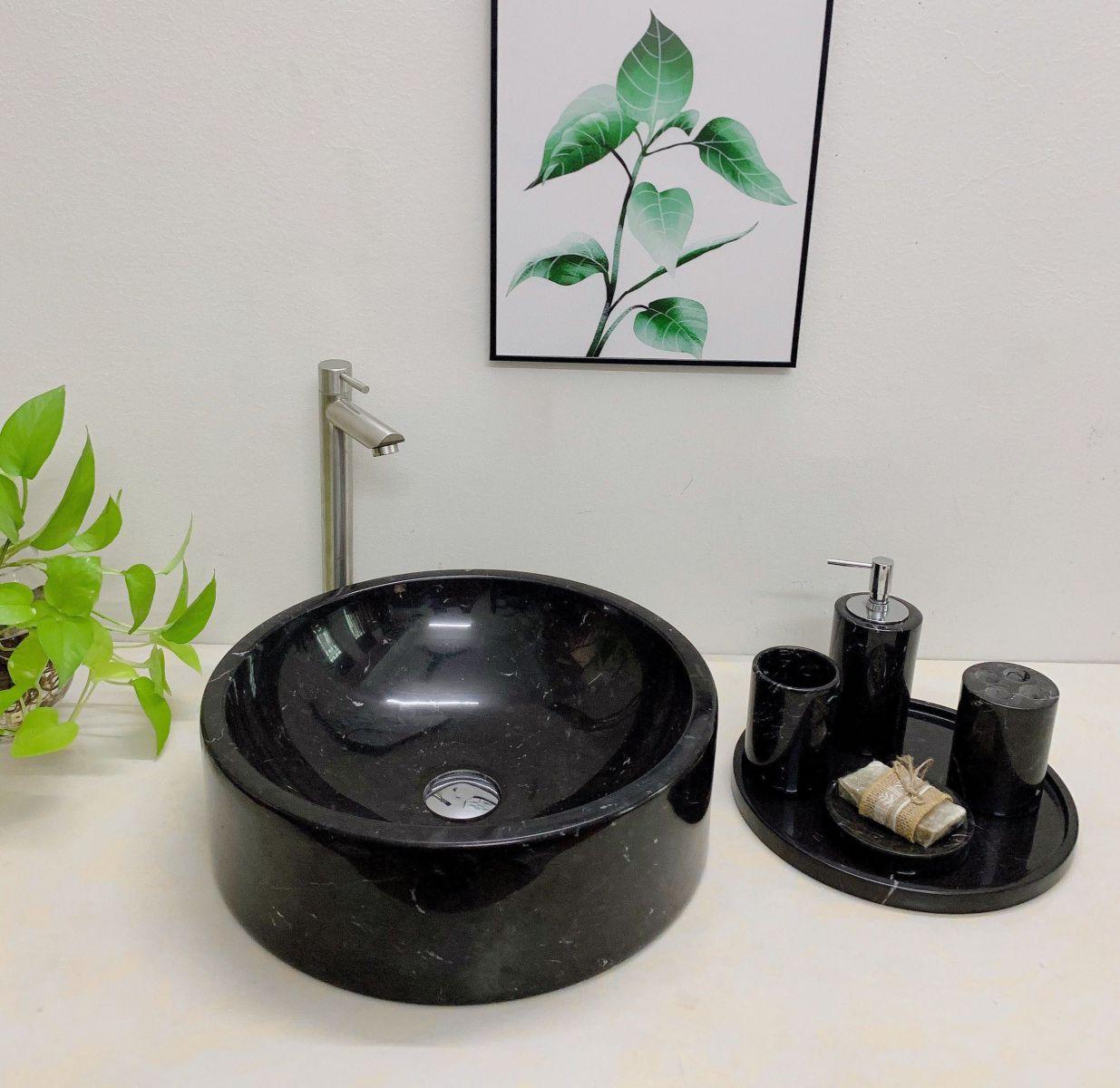 Chậu rửa lavabo màu đen Eximstone BST68